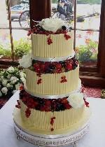 Chocolate Fruit Wedding Cake   Ref CW002