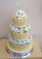 Chocolate Wedding Cake with Butterflies  Ref CW003