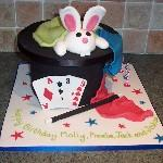 Rabbit in Hat Magic Cake
