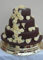 Chocolate Fairy Wedding Cake  Ref CW005