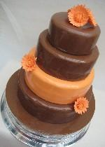 Chocolate and orange wedding cake CW034