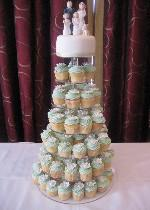 daisy cupcake tower with 6' top tier REF SD037
