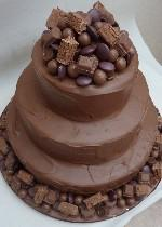 Chocoholics Wedding Cake