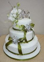 Flowers and Bling Cake IC111