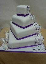 Flowers and shoes cake Ref IC114