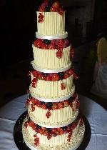 Five Tier with Fruit   Ref CW044